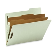 Smead Pressboard Classification File Folder with SafeSHIELD Fasteners 14215