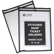 C-Line Products, Inc C-Line Stitched Plastic Shop Ticket Holder