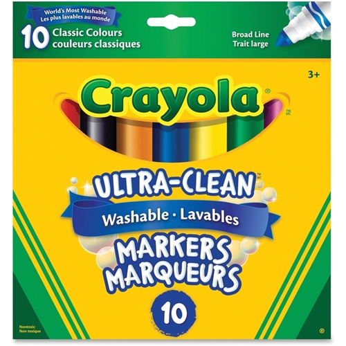 Crayola, LLC Crayola 10-Colour Ultra-Clean Washable Markers Set