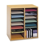 Safco Products Safco 16 Compartments Adjustable Shelves Literature Organizer