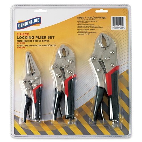 Genuine Joe 3pc Locking Plier Set