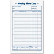 TOPS Products TOPS Weekly Handwritten Time Cards