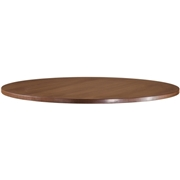 Lorell Essentials Series Walnut Laminate Round Table