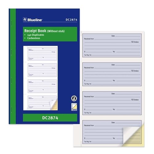 Dominion Blueline, Inc Blueline Receipt Forms Book