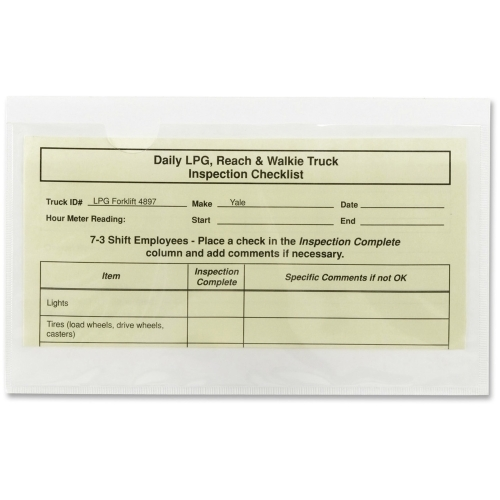 Smead 68185 Clear Self-Adhesive Poly Pockets