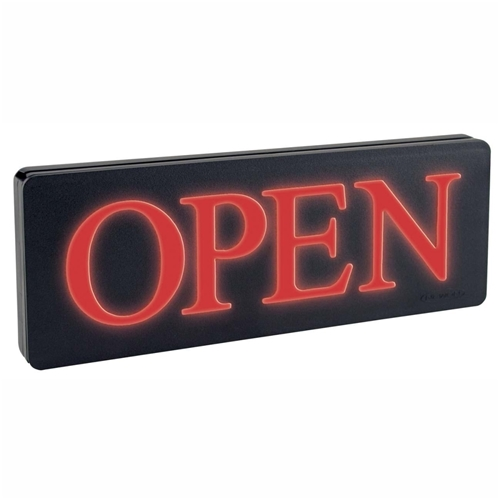 U.S. Stamp & Sign Headline Lighted Open Sign