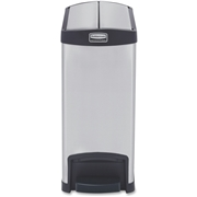 Rubbermaid Commercial 1901986 Slim Jim Step-on - 30L/8G Stainless Steel End Step Black
