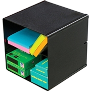 Deflect-o Divided Stackable Cube Organizer