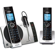 VTech Holdings VTech Connect to Cell DS6771-3 DECT 6.0 Cordless Phone - Black, Silver
