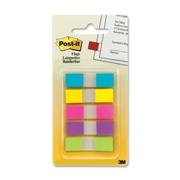 3M Post-it Flags 683-5CB, .47 in x 1.7 in Assorted Brights 24 pk/cs