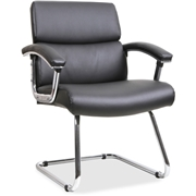 Lorell Sled Base Leather Guest Chair