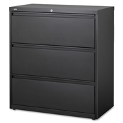 Lorell 3-Drawer Black Lateral Files