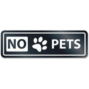 U.S. Stamp & Sign No Pets Window Sign