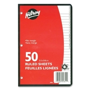 Hilroy 7 mm 3-Hole Punched Ruled Filler Paper