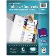 Avery Ready Index Translucent Table of Content Dividers