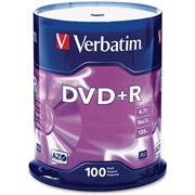 Verbatim America, LLC Verbatim AZO DVD+R 4.7GB 16X with Branded Surface - 100pk Spindle