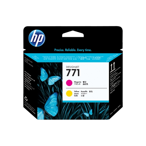 HP #771 Magenta & Yellow Printhead (CE018A) OEM Ink Cartridge