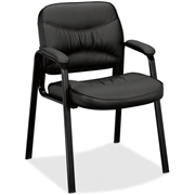 Basyx by HON VL643 Leather Guest Leg Base Chair