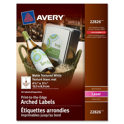 Avery Easy Peel Textured Arched Label