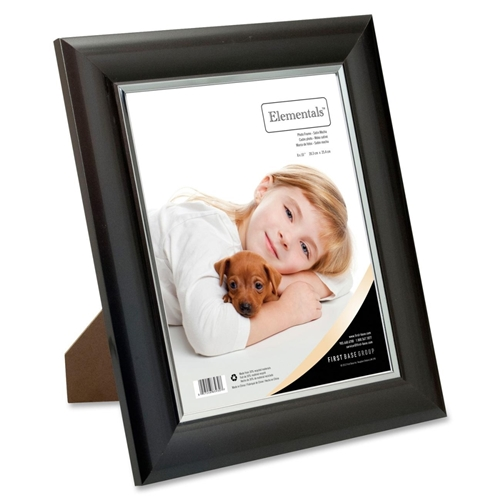 First Base, Inc First Base Elementals 8x10 Easy Insert Frame Satin Mocha