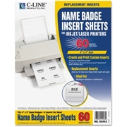 C-Line Products, Inc C-Line Name Badge Insert