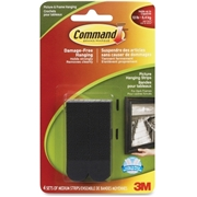 3M Command Medium Picture Hanging Strips - Black, 17201BLK-C