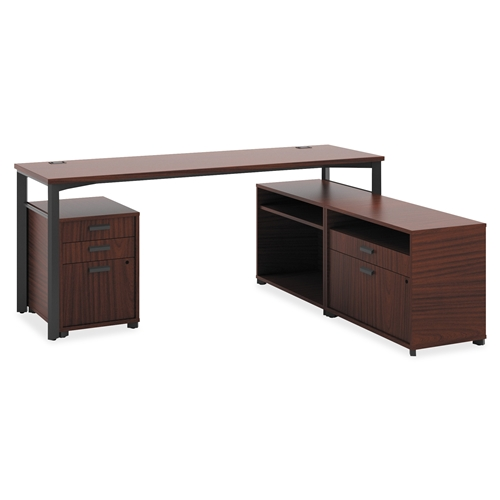 The HON Company Basyx by HON Manage Series Chestnut Office Furniture Collection