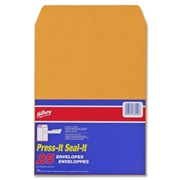 Hilroy Press-It Seal-It Kraft Adhesive Envelope