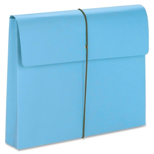 Smead Manufacturing Company Smead 77203 Blue Expanding Wallets with Elastic Cord