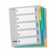 Fellowes, Inc Fellowes Index Tabs - 5 Tabs