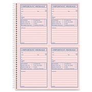 TOPS Products Adams Carbonless Important Message Pad