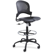Safco Zippi Plastic Extended-Height Chair - Black