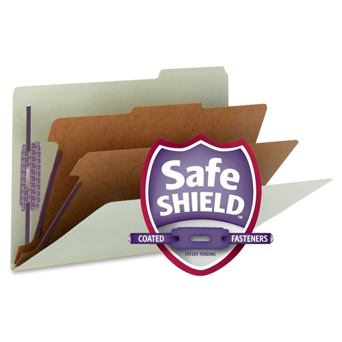 Smead Manufacturing Company Smead Pressboard Classification File Folder with SafeSHIELD Fasteners 19215