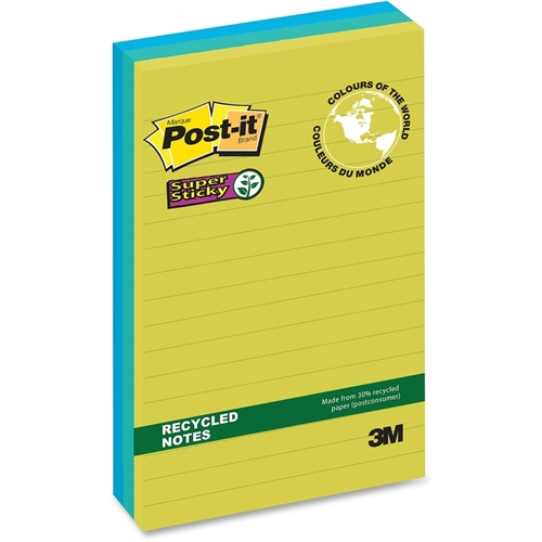 3M Post-it Super Sticky Tropical Notes