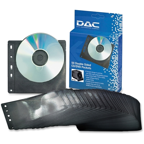 First Base, Inc DAC Double Sided CD/DVD Pocket