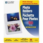 C-Line Products, Inc C-Line 3-Hole Polypropylene Photo Protector