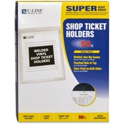 C-Line Products, Inc C-Line Vinyl Shop Seal Ticket Holder