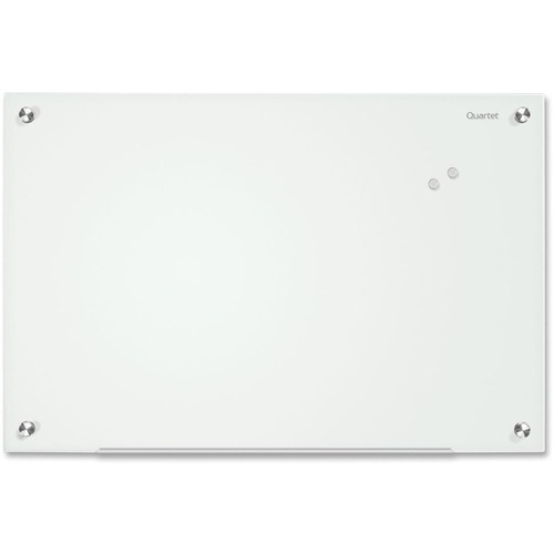 ACCO Brands Corporation Quartet Infinity Magnetic Glass Dry-Erase Board, White, 4' x 3'