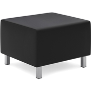 Basyx by HON Leather Lounge Ottoman