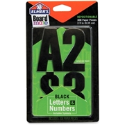 Elmer's Black Letters Numbers and Symbols Stickers