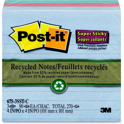 Post-it Super Sticky Lined Tropical Notes