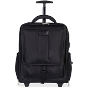 "bugatti Carrying Case (Rolling Backpack) for 17"" Travel Essential, Notebook - Black"