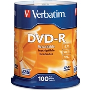 Verbatim America, LLC Verbatim AZO DVD-R 4.7GB 16X with Branded Surface - 100pk Spindle
