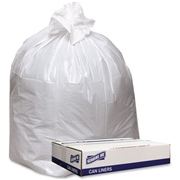Genuine Joe Extra Heavy-duty White Trash Can Liners