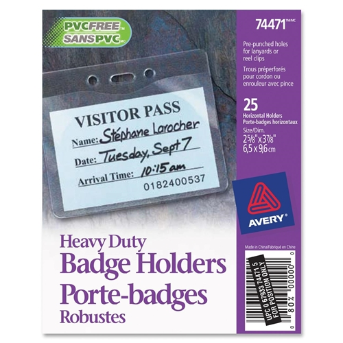 Avery Top Loading Horizontal Badge Holder
