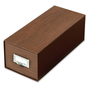 TOPS Products Globe-Weis Index Card Box With Follower Block