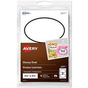Avery® Glossy Oval Labels