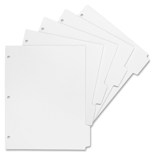 Sparco Products Sparco 3-Hole Letter-size Print-on Tab Dividers