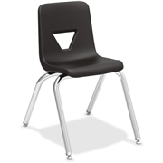 """Lorell 16"""" Seat-height Stacking Student Chairs - 4/CT"""