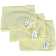 "Globe Commercial Products Globe 16""x16"" Microfiber Cloth 240GSM Yellow"